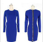 Womens Celeb Style Vintage Bodycon Stretch Tunic Silm  Mini Dress 024 UKLO
