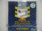 Warmseal 5m Self Adhesive Super Brush Pile Draught Excluder Brown/White