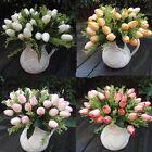 12 Heads Beautiful Artificial Silk Tulip Flowers 1 Bouquet Wedding Party Decor