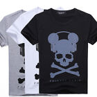 High Quality Men Cotton ★PHILIPP PLEIN★ Diamante Music Skull T shirt Tee Top