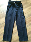 Boys Navy Blue SF Standard Fit School Trousers & Belt BNWT RRP £12-£16 Fast Post