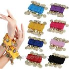 1 Pair Belly Dance Bollywood Dancing Coins Wrist Ankle Arm Bracelets Cuff Match