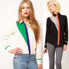 ❤ CHEAP Popular Europe Style Women Collared Long Sleeve Casual Shirt Tops Blouse