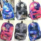 Unisex K-POP EXO Galaxy Star Canvas Backpack Shoulder Bag School Book Bag Campus
