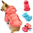 Small Pet Dog Warm Clothes Outercoat Hoodie Sweater Pleated Coat Jacket Apparel