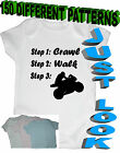 PERSONALISED BABY BODYSUIT GROW VEST GIRL OR BOY CLOTHES FUNNY GIFT SIZE 0-18mt