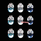 10 Pcs 3D Bow Gems Rhinestones Bling Nail Art Alloy Creative Deco Fashion DIY