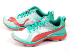 Puma Mobium Ride Wn's White-Micro Chip-Pool Green Sportstyle Running 187299 01