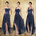 New Luxury High Low Prom Ball Homecoming Party Evening Cocktail Pageant Dress B2