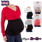 Pregnancy Maternity Top Tunic Blouse Colour Block / One Size / Batwing Sleeves