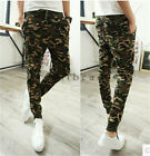 Men's Military Camouflage Camo Casual Pants Joggers Sport Sweatpants Trouser
