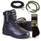 ARMY FULL LEATHER COMBAT PATROL BOOT BLACK CADET NEW WITH SOCKS LACES TWISTS