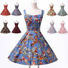 8 STYLES FLORAL VINTAGE STYLE 1950's ROCKABILLY SWING PARTY PROM HOUSEWIFE DRESS
