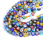 Mixed Flat MILLEFIORI evil eye Glass Loose Spacer BEADS Choose 6MM 8MM 10MM 12MM