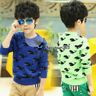 Autumn/Spring Child Baby Toddlers Dolphin Kids Boys Sweater Coat Knitwear 2-7Y