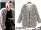 Fashion Style Women's Autumn Coat Faux Lamb Fur Batch Shoulder Jacket Top Hot
