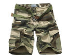Brand New Men's Casual Army Camo Cargo Shorts Sizes: 28 - 38  EW UK