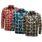 PADDED QUILTED  WARM  WINTER CHECKED FLANNEL COTTON LONG SLEEVE SHIRT JACKET