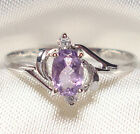 Genuine Faceted Oval Amethyst .925 Sterling Silver Ring -- AM869