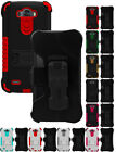 RUGGED TRI-SHIELD KOMBO CASE SKIN COVER BELT CLIP HOLSTER STAND FOR LG G3 PHONE