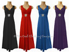 LADIES LONG STRETCHY MAXI DRESS EVENING WEAR (CARA) SIZE 16 to 24