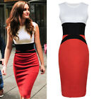 NEW Ladies Bodycon Dress Size 6-20 Summer Midi Skirt Evening Cocktail Party TOP