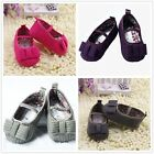 Infan Toddler Cotton Soft Soled Prewalker Baby Mary Jane Shoes US Size 2 3 4