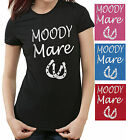 MOODY MARE HORSE RIDING Equestrian LADIE FIT T-SHIRT Very Sparkly Glitter