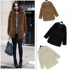 Women 2014 Winter Fluffy Shaggy Curly Faux Fur Neck Zipper Coat Jacket Outerwear