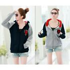 Casual Women Girl Long Sleeve Pullover Hoodie Hooded Sweatshirt Coat Outerwear