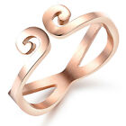 IP Rose Gold Hoop Design Stainless Steel Fashion Women Ring Forever Love 5.6.7.8