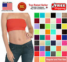 Basic Colors Stretch Strapless Layering TUBE TOP BRA Plain BANDEAU Underwear Tee