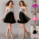 Homecoming Beaded Quinceanera Dress Ball Gown Prom Pageant Dress Strapless Mini~