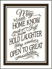 May Our Home w/ Border Vinyl Wall Decal Sticker Inspirational Phrases Quote NEW