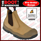 Mongrel 440050 Work Boots. Wheat, Elastic Side, Steel Toe Safety.   SCUFF CAP!