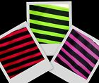 "5/8"" Quality Green Red Pink Black Stripe Twill Fabric BTY"