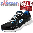 Skechers Womens Synergy Sport Memory Foam Fitness Gym Trainers Black *AUTHENTIC*