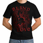 Wellcoda | NEW Blind Love Fire Heart Mens Womens Funny T-Shirt *o187