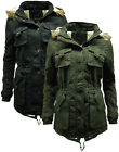 Womens Kirby Sherpa Lined Parka Winter Coat / Jacket - Removable Fur Trim Hood