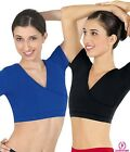Eurotard 46604 short sleeved crop top belly dance praise womens cotton lycra new