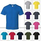 Colorful Mens Adult Heavy 100% Cotton Short Sleeve T-Shirt Cotton Tee S M L XL