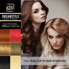 Premium Full Head Clip In 100% Real Remy Human Hair Extensions
