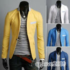 Fashion New Men's Slim Fit Stylish Casual One Button Suit Coat Jacket Blazers