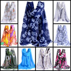 Ladies Fashion Scarf Shaw Horse Flower Lily Animal Print blogger desinger
