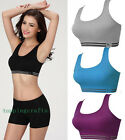 Women Padded Bra Racerback Seamless Vest Fitness Sports Yoga Stretch underwear