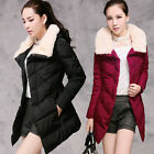 Women's Hot Sell Long Section Winter Warm Collar Casual Cotton Down Jacket Coat