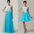 2015 Short/Long Masquerade Bridesmaid Banquet Dress Cocktail Evening Party gown