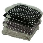 Silver Dot Microplush Sherpa Embroidered Throw 50 x 60