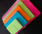 High quality spiral bound notebooks with plastic cover in 5 sizes/ Writing paper