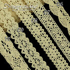 1M Vintage Ivory Cream Cotton Lace Ribbon Fabric Crochet Trim Wedding Cardmaking